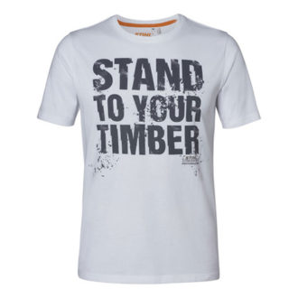 "e884fe87e73adb T-Shirt ""STAND TO YOUR TIMBER"" weiß Herren"